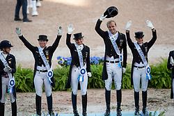 Team Germany, Gold Medal, Werth Isabell, Schneider DForothee, Rothenberger Sönke, Von Bredow-Werndl Jessica, Röser Klaus<br /> World Equestrian Games - Tryon 2018<br /> © Hippo Foto - Dirk Caremans<br /> 13/09/2018