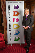 John Bercow MP supporting the Enough Food for Everyone?IF campaign. .MP's and Peers attended the parliamentary launch of the IF campaign in the State Rooms of Speakers House, Palace of Westminster. London, UK.