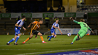 Hull City's Josh Magennis comes close <br /> <br /> Photographer Ian Cook/CameraSport<br /> <br /> The EFL Sky Bet League One - Bristol Rovers v Hull City - Tuesday 27th October 2020 - Memorial Stadium - Bristol<br /> <br /> World Copyright © 2020 CameraSport. All rights reserved. 43 Linden Ave. Countesthorpe. Leicester. England. LE8 5PG - Tel: +44 (0) 116 277 4147 - admin@camerasport.com - www.camerasport.com