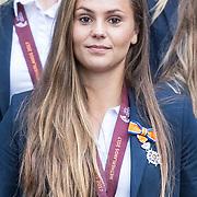 NLD/Den Haag/20171025 - Koning ontvangt winnaar EK voetbal Vrouwen 2017, Lieke Martens