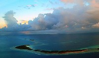 Atolls, reefs and beaches in the Republic of the Marshall Islands in Micronesia