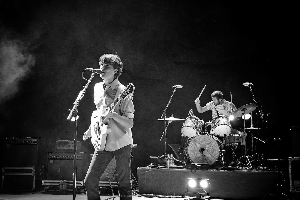 """Vampire Weekend perform on September 3, 2010 in support of """"Contra"""" at Red Rocks Amphitheater in Morrison, Colorado."""
