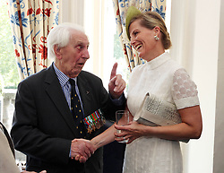 File photo dated 10/07/15 of the Countess of Wessex with veteran Flying Officer Ken Wilkinson, one of the last surviving Spitfire pilots from the Battle of Britain, who has died.