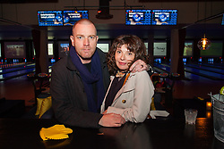 NEW YORK, NY - APRIL 6: Production designer Eve Mavrakis (R) and actor Ewan McGregor attends the 8th Annual FX All-Star Bowling Party at Lucky Strike Manhattan on April 6, 2017 in New York City. (Photo by Marko Krunic/FX/PictureGroup) *** Please Use Credit from Credit Field ***