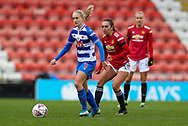 Reading forward Amalie Eikeland (9) looks for a pass during the FA Women's Super League match between Manchester United Women and Reading LFC at Leigh Sports Village, Leigh, United Kingdom on 7 February 2021.