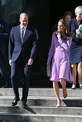 Duke of Cambridge William and Duchess of Cambridge Catherine leaving the County Hall after attending the Global Ministerial Mental Health Summit - London <br /><br />9 October 2018.<br /><br />Please byline: Vantagenews.com