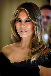 May 25, 2017 - Brussels, BELGIUM - First Lady of the US Melania Trump pictured before a diner of the First Ladies and Queen at the Royal castle in Laken/Laeken, on Thursday 25 May 2017, in Brussels. US President Trump is on a two day visit to Belgium, to attend a NATO (North Atlantic Treaty Organization) summit on Thursday. BELGA PHOTO YORICK JANSENS (Credit Image: © Yorick Jansens/Belga via ZUMA Press)