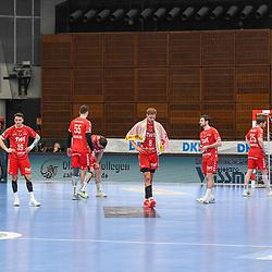 Enttaeuscht die Eulen nach der Niederlage beim Spiel in der Handball Bundesliga, Die Eulen Ludwigshafen - HSG Nordhorn-Lingen.<br /> <br /> Foto © PIX-Sportfotos *** Foto ist honorarpflichtig! *** Auf Anfrage in hoeherer Qualitaet/Aufloesung. Belegexemplar erbeten. Veroeffentlichung ausschliesslich fuer journalistisch-publizistische Zwecke. For editorial use only.