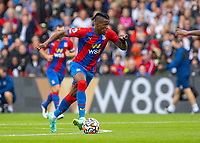 Football - 2021/2022  Premier League - Crystal Palace vs Brentford - Selhurst Park  - Saturday 21st August 2021.<br /> <br /> Wilfried Zaha (Crystal Palace) on a frustrating afternoon for the Crystal Palace striker at Selhurst Park.<br /> <br /> COLORSPORT/DANIEL BEARHAM