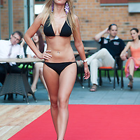 Ildiko Toth a participant of the Beauty Queen contest attends a bikini tour in Hotel Abacus, Herceghalom, Hungary on July 07, 2011. ATTILA VOLGYI