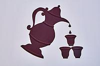 Sultanat d'Oman, gouvernorat de Ash Sharqiyah, Sinaw, cafetiere ou theiere // Oman, Sinaw Market, Sultanate of Oman, Al Sharqiya Region, Sinaw, teapot