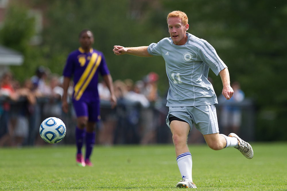 Andrew Woonton, of Colby College, in an NCAA Division III college soccer game against Williams College at Colby College, Saturday Sept. 7, 2012 in Waterville, ME. (Dustin Satloff/Colby College Athletics)