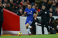 Davide Zappacosta of Chelsea in action. Premier League match, Liverpool v Chelsea at the Anfield stadium in Liverpool, Merseyside on Saturday 25th November 2017.<br /> pic by Chris Stading, Andrew Orchard sports photography.
