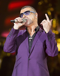 October 5, 2012 - Cardiff, Glamorgan, U.K - George Michael performs at the Motorpoint Arena, Cardiff on his Symphonica Tour. The singer recently announced he was cancelling the Australian leg of his world tour to aid his recovery from life threatening pneumonia he contracted last year before a gig in Austria. 5 October 2012 (Credit Image: © Adam Gasson/Avalon via ZUMA Press)