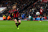 Ryan Fraser (24) of AFC Bournemouth misses the ball as he tries to shoot at goal during the The FA Cup 3rd round match between Bournemouth and Brighton and Hove Albion at the Vitality Stadium, Bournemouth, England on 5 January 2019.
