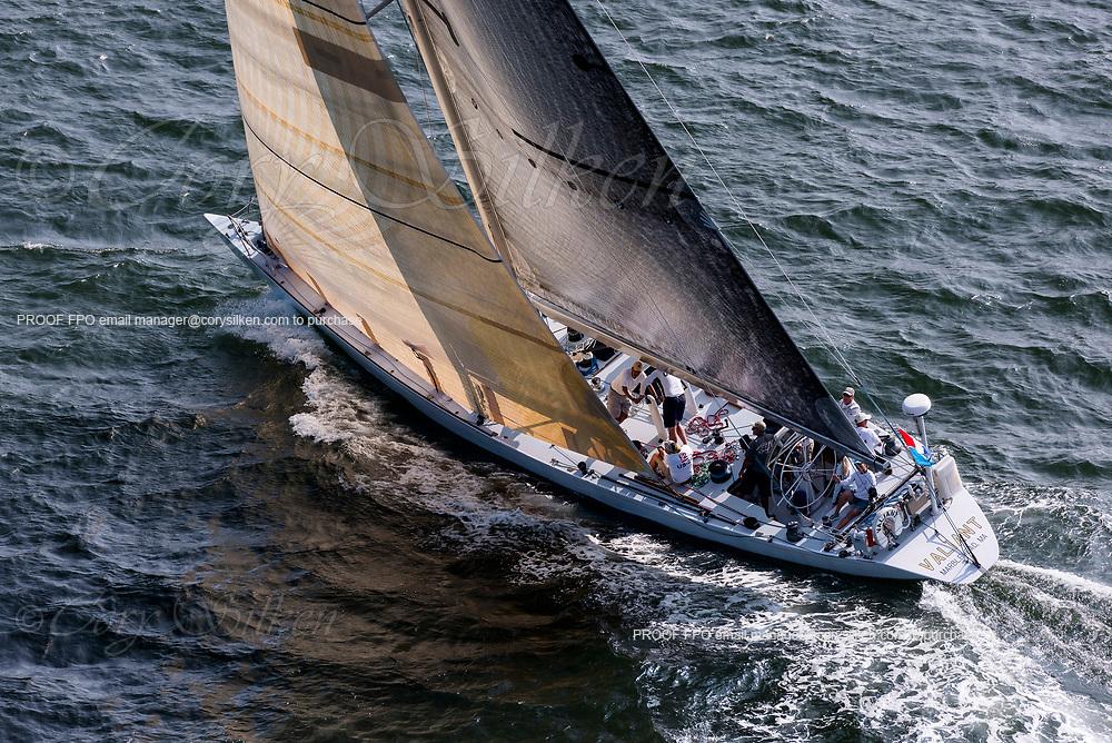 Valiant sailing in the Panerai Newport Classic Yacht Regatta.