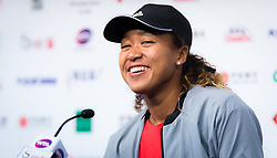 October 2, 2018 - Naomi Osaka of Japan talks to the media after winning her second-round match at the 2018 China Open WTA Premier Mandatory tennis tournament (Credit Image: © AFP7 via ZUMA Wire)