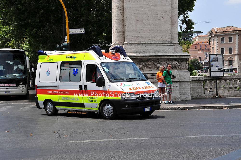 Rome, Italy an ambulance