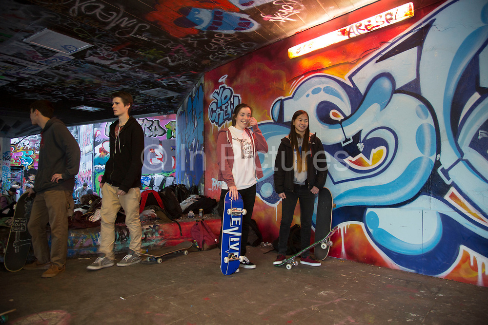 Long Live South Bank event held at the South Bank Undercroft prior to a petition to save the site, signed by 23,000 people was taken to Lambeth Council. The Undercroft on the South Bank has been popular with skateboarders since the early 70's and is widely acknowledged to be London's most distinctive and popular skateboarding area. The area is used by skateboarders, BMXers, graffiti artists, taggers, photographers, and others. It is proposed that the area be redeveloped for retail spaces.