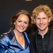 NLD/Utrecht/20160930 - inloop NFF 2016 L'OR Gouden Kalveren Gala, Ewout Genemans en Juliette van Ardene