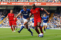 Photo: Ashley Pickering.<br /> Ipswich Town v Coventry City. Coca Cola Championship. 22/09/2007.<br /> David Wright of Ipswich (L) and Dele Adebola of Coventry