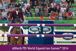 Shaikh Ali bin Khali Al Thani, (QAT), Eurocommerce California - World Champions, - Second Round Team Competition - Alltech FEI World Equestrian Games™ 2014 - Normandy, France.<br /> © Hippo Foto Team - Leanjo De Koster<br /> 25/06/14