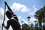 Macapa_AP, Brasil...Comunidade remascente de quilombolas do Curiau, em Macapa, Amapa. Na foto morador no Rio Curiau...The Quilombola remaining of Curiau, in Macapa, Amapa. In this photo a resident in Curiau river...Foto: JOAO MARCOS ROSA / NITRO