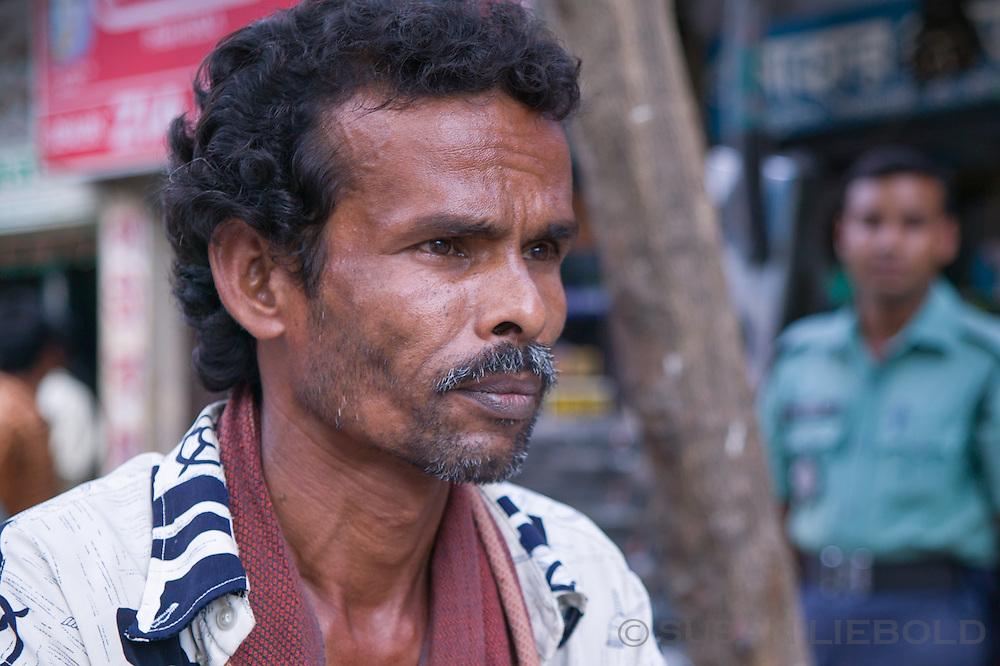 Jalal, a rickshaw driver in Dhaka, Bangladesh.