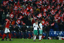 November 12, 2017 - Basel, Switzerland - FIFA World Cup Qualifiers play-off Switzerland v Northern Ireland.The disappointment of Steven Davis of Northern Ireland at St. Jakob-Park in Basel, Switzerland on November 12, 2017. (Credit Image: © Matteo Ciambelli/NurPhoto via ZUMA Press)