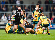 New Zealand's Orbyn Leger breaks away during the World Rugby U20 Championship 5rd Place play-off  match Australia U20 -V- New Zealand U20 at The AJ Bell Stadium, Salford, Greater Manchester, England on Saturday, June  25  2016.(Steve Flynn/Image of Sport)