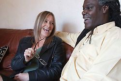 Couple having a laugh. Cleared for Mental Health issues.
