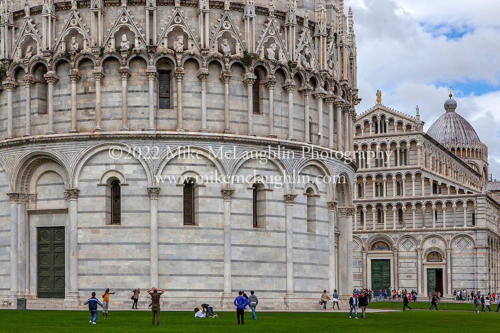 April 30, 2014<br /> Battistero di San Giovanni (Baptistry of St. John), and Cattedrale di Pisa. Pisa, Italy.<br /> ©2014 Mike McLaughlin<br /> www.mikemclaughlin.com<br /> All Rights Reserved