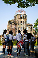 31.1 Hiroshima Peace Park 広島平和記念公園 is in the center of Hiroshima, dedicated to the legacy of Hiroshima as the first city in the world to suffer a nuclear attack on August 6, 1945 which led to the death of 140,000 people. The Industrial Promotion Building is now known as 'the bomb dome'. The purpose of the Peace Memorial Park and its museum is to not only commemorate the victims but also to preserve the memory of nuclear horrors and advocate world peace.  The chilling displays in the park's museum show in vivid and unforgetable detail the horrors of nuclear war.