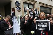 """Charlie Hebdo Journalist Vigil """"Une minute pour Charlie"""""""