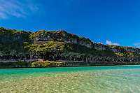 Lekiny Cliffs, Island of Ouvea, Loyalty Islands, New Caledonia