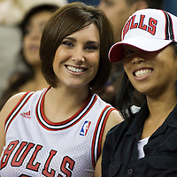 09 February 2007: Bulls fans are seen before the Golden State Warriors 123-121 victory over the Chicago Bulls at the Oracle Arena in Oakland, CA.