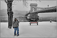 SERIES - DAY TRIPPER  by PAUL WILLIAMS- Chain Bridge in snow  Budapest