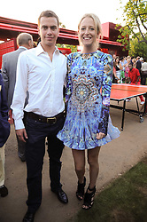 The HON.SOPHIA HESKETH and ROBERT SHEFFIELD at the annual Serpentine Gallery Summer party this year sponsored by Jaguar held at the Serpentine Gallery, Kensington Gardens, London on 8th July 2010.  2010 marks the 40th anniversary of the Serpentine Gallery and the 10th Pavilion.