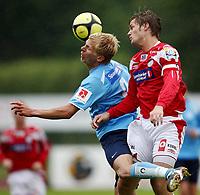 Fotball <br /> Adeccoligaen<br /> Gjemselunden Stadion <br /> 06.07.08<br /> Kongsvinger  v  Sandnes Ulf  0-0<br /> <br /> Foto: Dagfinn Limoseth, Digitalsport<br /> Kai Olav Ryen , Kongsvinger og Morten Eriksen , Sandnes Ulf