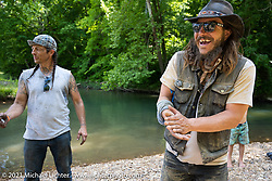 Danger Dan Hardick and Jason Elam at the Tennessee Motorcycles and Music Revival at Loretta Lynn's Ranch. Hurricane Mills, TN, USA. May 23, 2021. Photography ©2021 Michael Lichter.