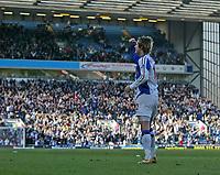 Photo: Andrew Unwin.<br />Blackburn Rovers v Middlesbrough. The Barclays Premiership. 18/03/2006.<br />Blackburn's Morten Gamst Pedersen celebrates scoring his team's second goal.
