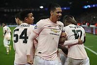 Football - 2018 / 2019 UEFA Champions League - Round of Sixteen, Second Leg: Paris Saint-Germain (2) vs. Manchester United (0)<br /> <br /> Chris Smalling of Manchester United, at Parc des Princes, Paris.<br /> <br /> COLORSPORT/IAN MACNICOL