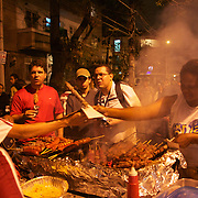 Fans queue for food outside the Olympic Stadium after the Fluminense V Corinthians, Futebol Brasileirao League match at the Olympic Stadium, Corinthians won the match 2-1. Rio de Janeiro. Brazil. 15th September 2010. Photo Tim Clayton.