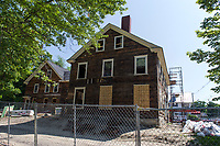 Renovation work at the Pickering House on Main St. in Wolfeboro.  (Karen Bobotas/for the Laconia Daily Sun)