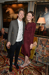 AMBER ATHERTON and JAMES FABRICANT at a private screening of 'A Postcard From Istanbul' directed by John Malkovich In Collaboration With St. Regis Hotels & Resorts held at 5 Hertford Street, London on 3rd March 2015