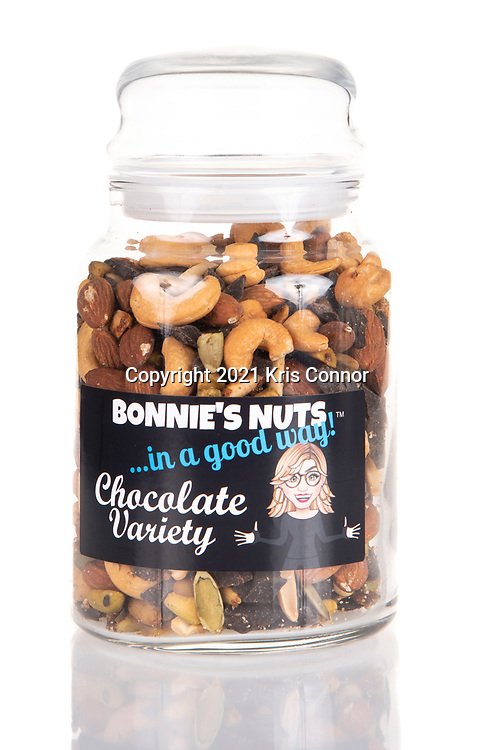 Bonnie's Nuts products photographed at the Tell Your Story Visually with Great Product Photography sponsored by the Long Island Food Council at Hotel Indigo East End in Riverhead, NY on May 24, 2021. Photo by Kris Connor