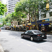 Shops on Adelaide Street in Brisbane City