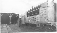 RGS Goose #4 northbound in front of section house outside snowshed at Lizard Head.<br /> RGS  Lizard Head, CO  Taken by Springer, Fred M. - 8/19/1950