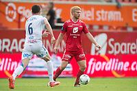 Fotball<br /> 29.05.2016<br /> Tippeligaen<br /> Brann Stadion<br /> Brann - Haugesund 1- 0 <br /> Filip Kiss (L) , Haugesund<br /> Simen Heltne Nilsen (R) , Brann<br /> Foto: Astrid M. Nordhaug