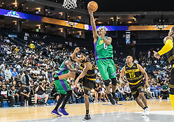 July 6, 2018 - Oakland, CA, U.S. - OAKLAND, CA - JULY 06: Qyntel Woods (6) of 3 Headed Monsters goes in for a lay up during game 4 in week three of the BIG3 3-on-3 basketball league on Friday, July 6, 2018 at the Oracle Arena in Oakland, CA  (Photo by Douglas Stringer/Icon Sportswire) (Credit Image: © Douglas Stringer/Icon SMI via ZUMA Press)